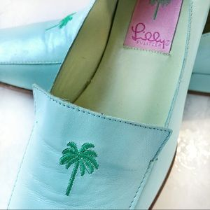 Lilly Pulitzer Leather Loafers - Pale Blue